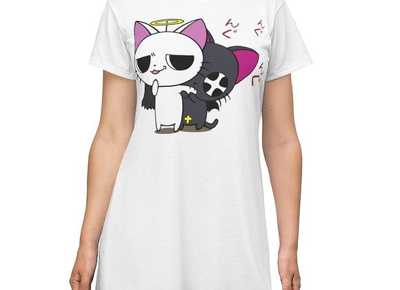 DAFENGA NYC 'Bad Kitty' T-Shirt Dress