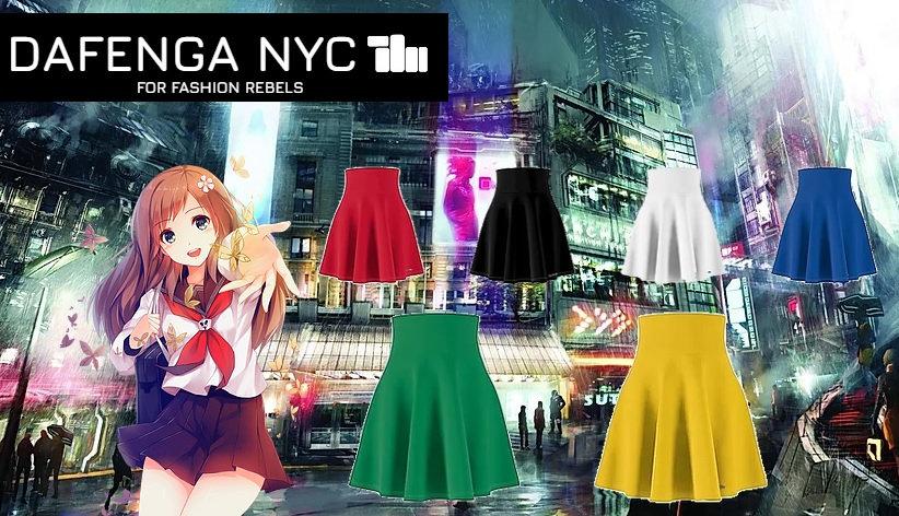 DAFENGA NYC Anime Skirts