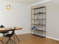 Mobilier meuble étagère bibliothèque alu