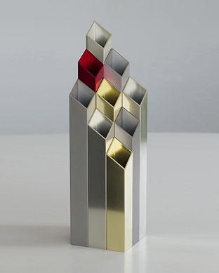 Vase design en aluminium Orgue