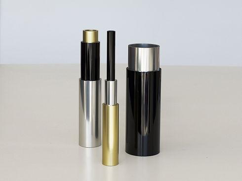 Décoration vase design Babel en métal aluminium style industriel contemporain fabriqué en France par l'Alufacture