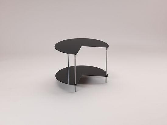 Meuble table basse design en métal aluminium style industriel contemporain fabriqué en France par l'Alufacture pour Roche Bobois