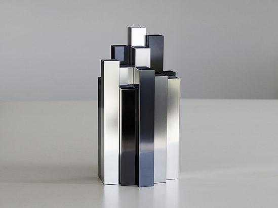 Décoration vase design Building en métal aluminium style industriel contemporain fabriqué en France par l'Alufacture