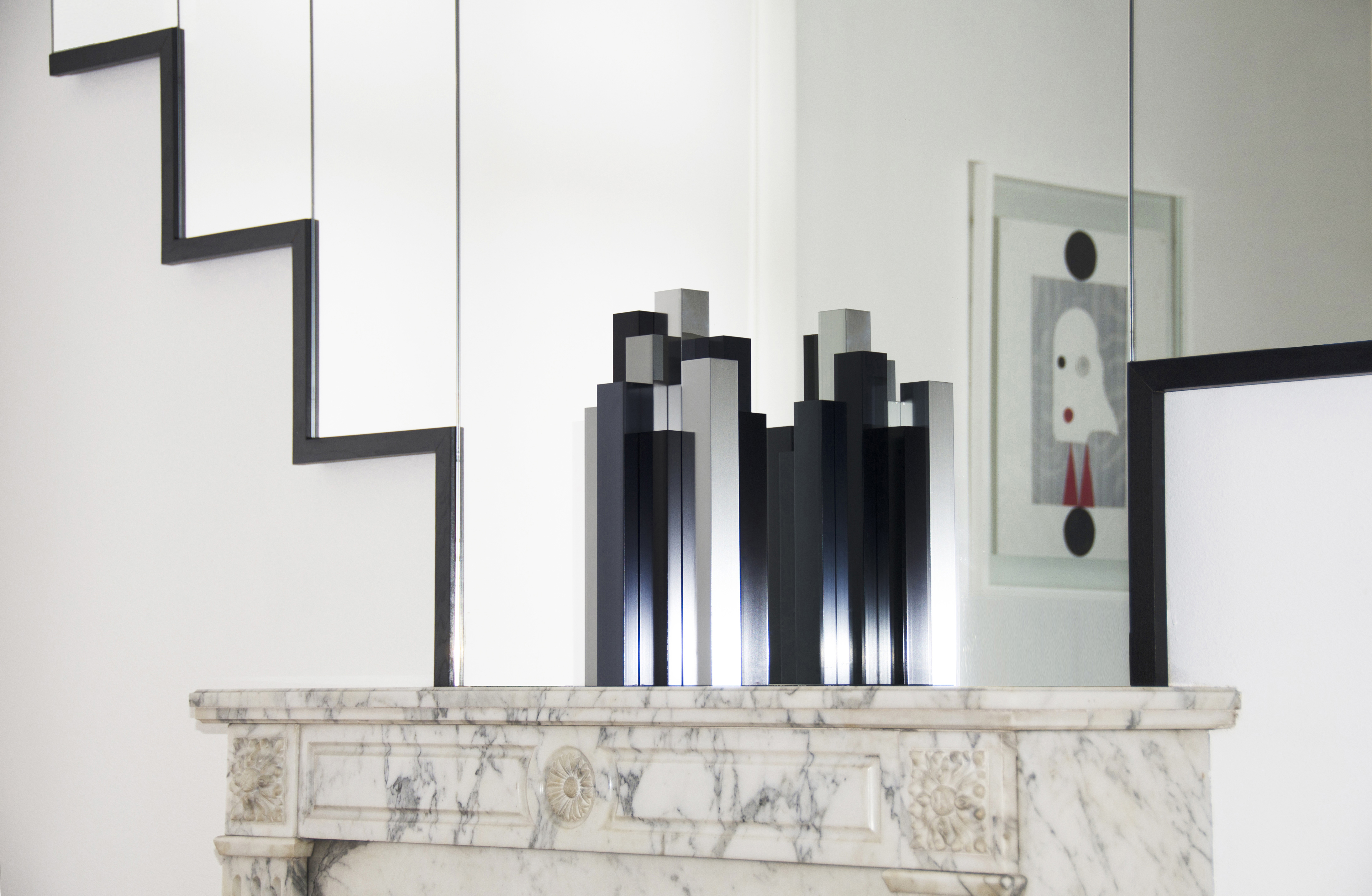 Vase design en aluminium Building