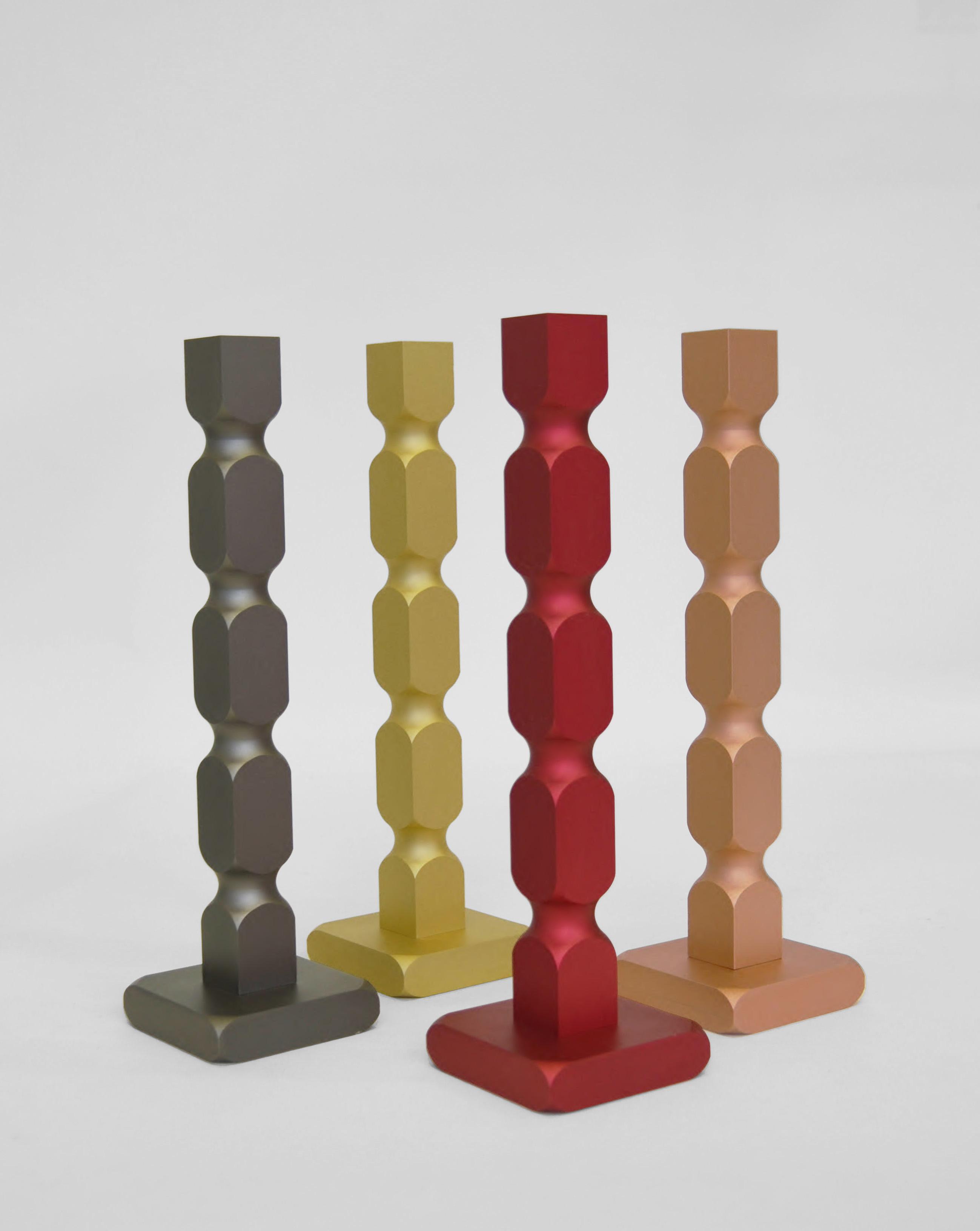 Bougeoirs design en aluminium Balougie