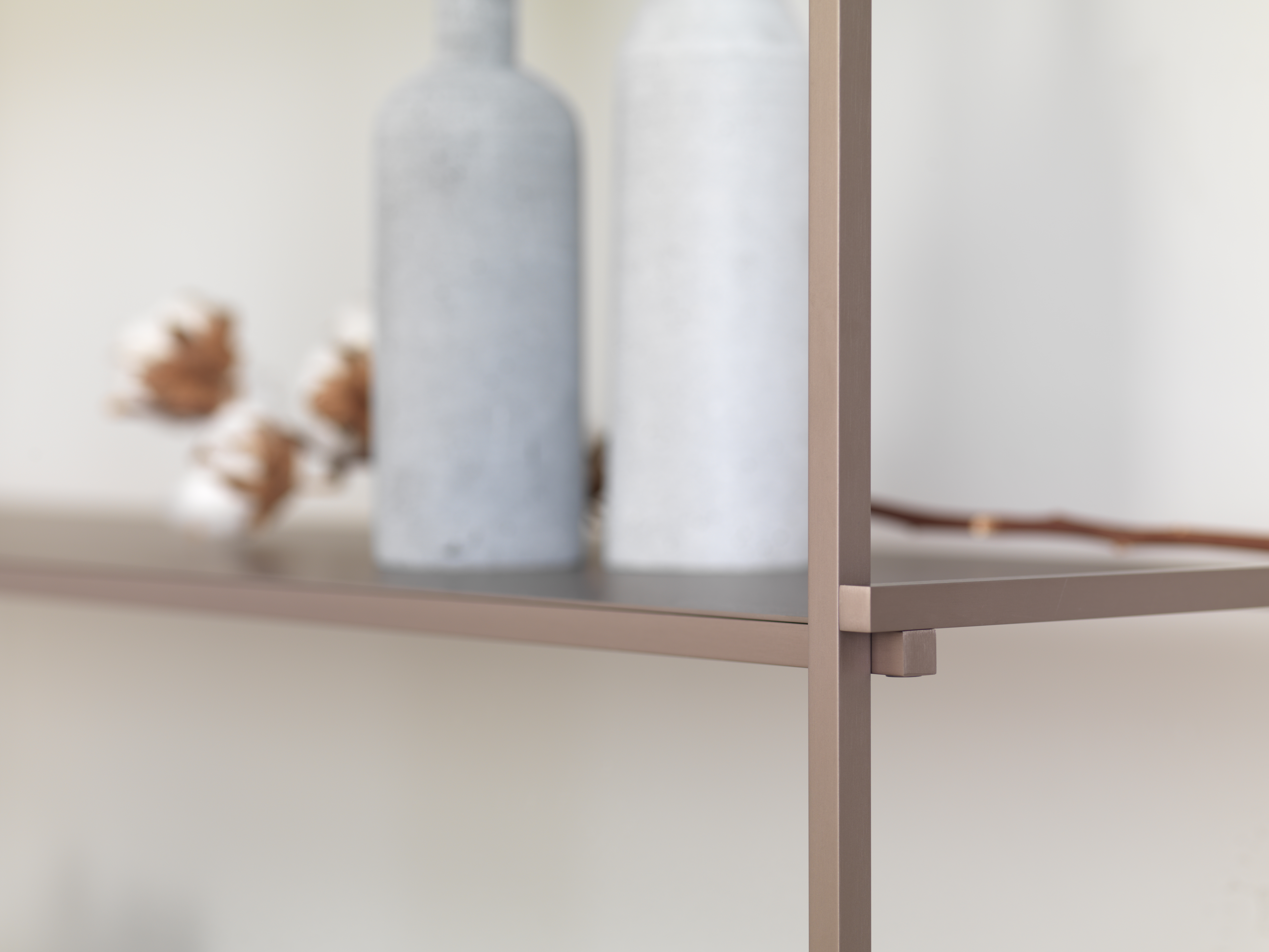 Meuble bibliothèque design métal alumini
