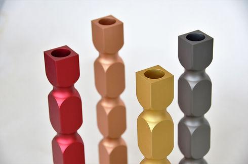 Décoration bougeoir design Balougie en métal aluminium style industriel contemporain fabriqué en France par l'Alufacture