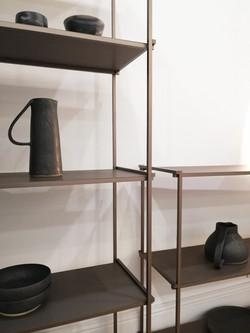 Mobilier meuble étagère bibliothèque aluminium métal industriel design contemporain Regula