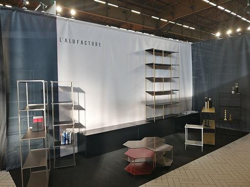 Meuble et décoration design en métal aluminium style industriel contemporain fabriqué en France par l'Alufacture au salon Maison & Objet