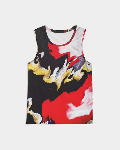 Pouring Contrast Men's Sports Tank