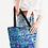 Thumbnail: Blue Secret Garden Canvas Zip Tote