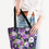 Thumbnail: Purple Secret Garden Canvas Zip Tote