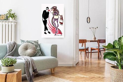 Love Desire Fashion Illustration Print