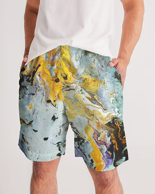 Pouring Gold Men's Jogger Shorts