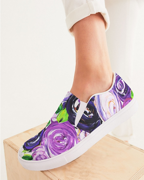 Purple Secret Garden Women's Slip-On Canvas Shoe