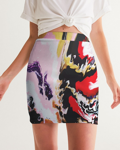 Pouring contrast Women's Mini Skirt