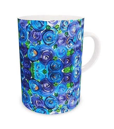 Blue Roses Bone China Mug