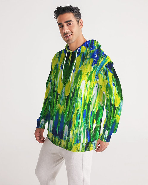 Abstract Greenery Men's Hoodie