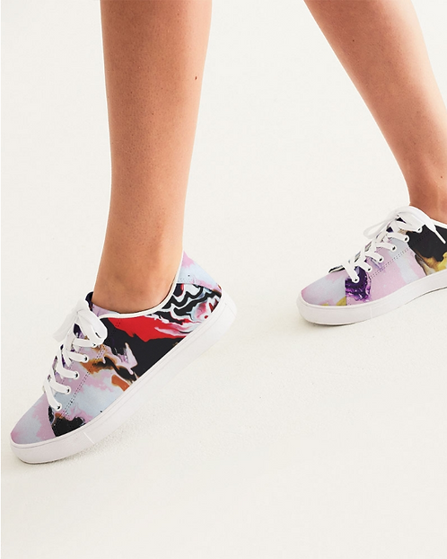 Pouring Contrast Women's Faux-Leather Sneaker