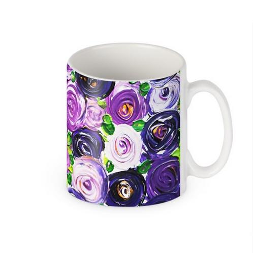 Purple Roses Mug