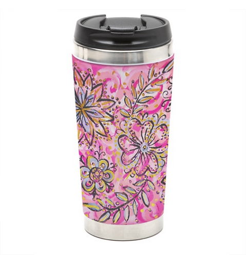 Blooming Flowers Travel Mug