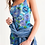 Thumbnail: Blue Secret Garden Women's Midi Bodycon Dress