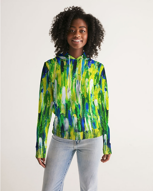 Abstract Greenery Women's Hoodie
