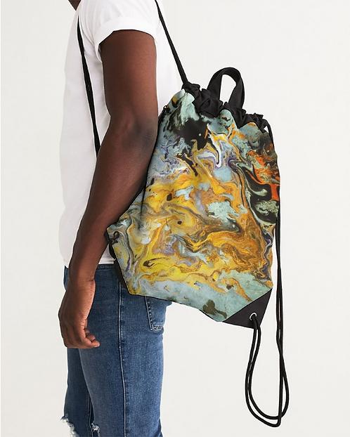 Pouring Gold Canvas Drawstring Bag