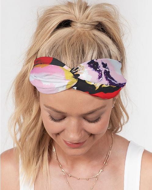 Pouring Contrast Twist Knot Headband Set