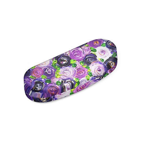 Purple Roses Hard Glasses Case