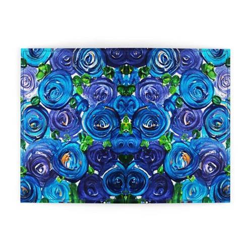 Blue Roses Passport Cover