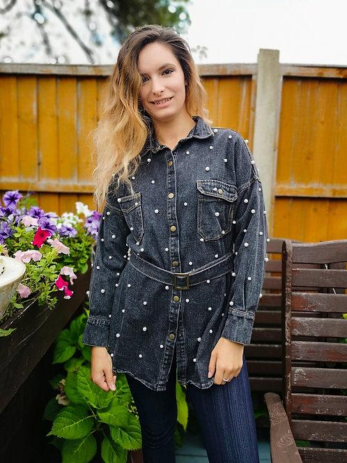 Starry Night Handbeaded Jacket S