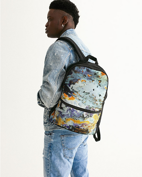 Pouring Gold Small Canvas Backpack