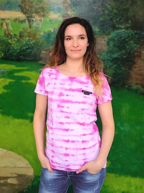 Pastel Pink Waves Tie Dye Organic Cotton Shirt