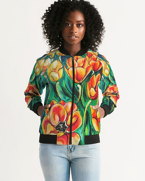Summer Flowers Women's Bomber Jacket