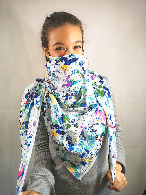 Fun in Paint Scarf Mask
