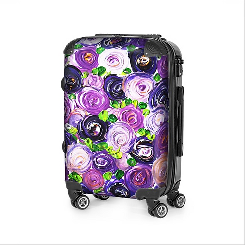Purple Roses Travel Suitcase