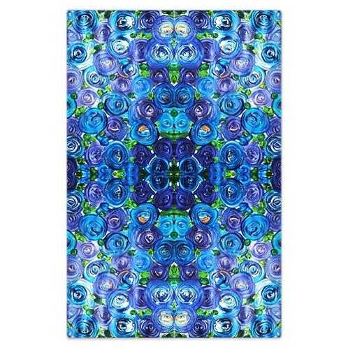 Blue Roses Bed Sheet
