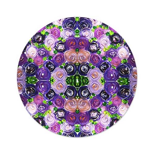 Purple Roses Food Platter Tray