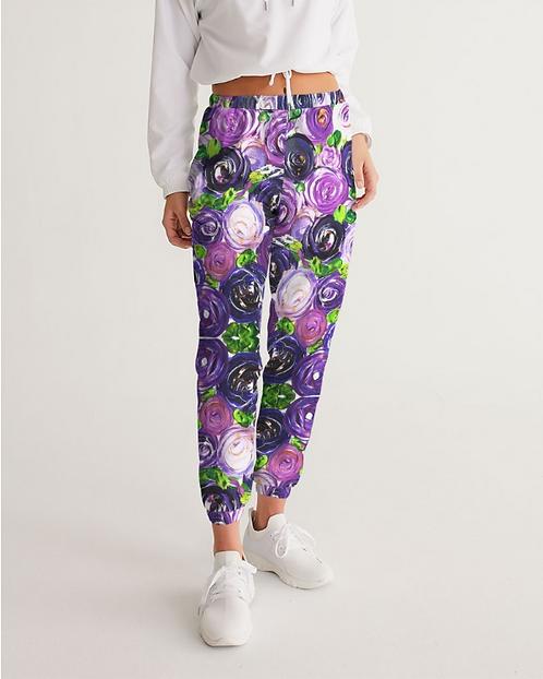 Purple Secret Garden Women's Track Pants