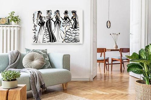 Bold Girls Fashion Illustration Print