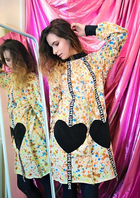 Long Hand Tie Dye Organic Cotton Sweater Pullover Dress