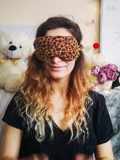 Leopard Fleece Eye Cover Mask Blindfold