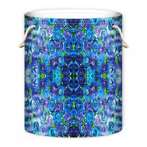 Blue Roses Laundry Bag