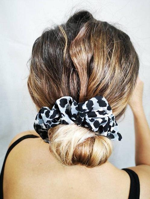 Grey Cheetah Scrunchie
