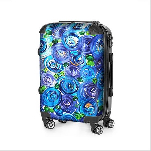 Blue Roses Travel Suitcase