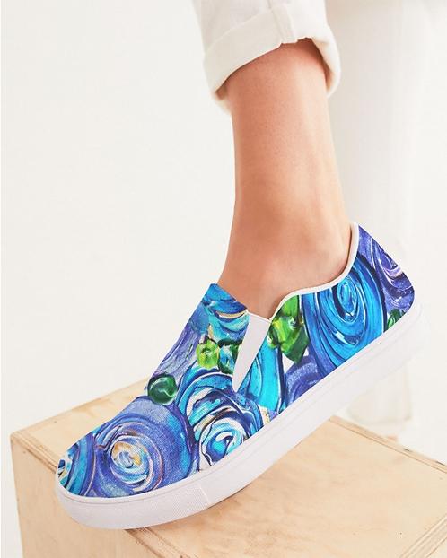 Blue Secret Garden Women's Slip-On Canvas Shoe