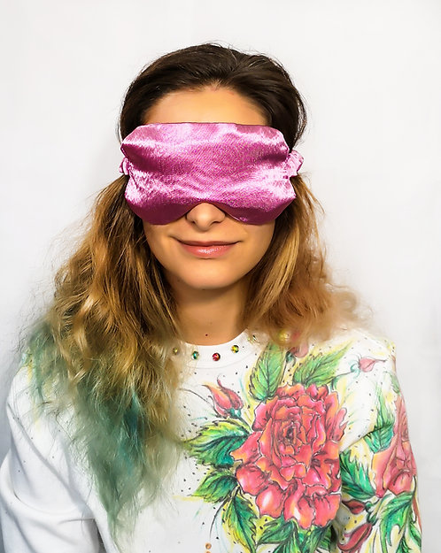 Dusty Pink Satin Eye Cover Mask