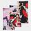 Thumbnail: Pouring Contrast Print Neck Gaiter Set