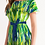 Thumbnail: Abstract Greenery Women's Off-Shoulder Dress